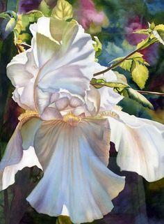 June Young —  White Iris  (1028×1400)