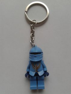 Castle Knigh blue  minifigure keychain keyring  by simplyproducts