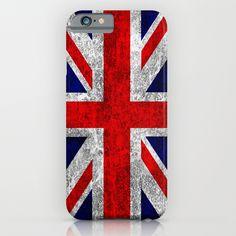 Union Jack Grunge Flag iPhone & iPod Case #iphonecase #phonecase #England #London #UnionJack #Flag #RedWhiteBlue