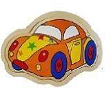 Houten legpuzzel auto Een houten puzzeltje in de vorm van een auto. Leg de stukjes op de juiste plek in het frame de auto is ontstaan. Afmeting Houten legpuzzel auto : ca 18 x 13 cm