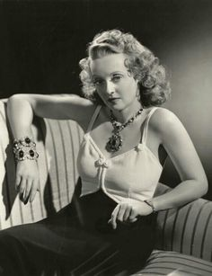 Bette Davis wearing Joseff Hollywood Jewelry