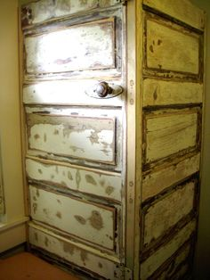 old doors from our 100 yr old house I sanded and reused aroung hot water heater. Perfect!