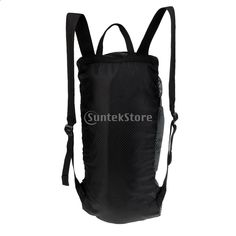 Nagy, rendkívül könnyű, összecsukható kültéri sziklamászó kötélfelszerelés Táska táska hátizsák földi lapokkal és vállhevederek fekete Camping, Backpacks, Bags, Shopping, Products, Fashion, Campsite, Handbags, Moda