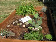 Outdoor tortoise enclosure.