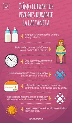 Cómo cuidar tus pezones durante la #lactancia.  #bebé #maternidad #embarazo