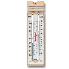 The Quick Set Max Min thermometers have a popular design and come in a cream moulding with black printed temperature scale. Our low cost max min thermometer model ideal for the greenhouse which has a push button resetting device.