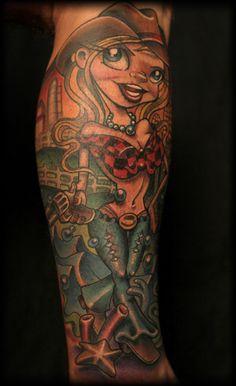 Pinup Tattoo by Josh Woods