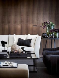 Browse our wide offer of design furniture products and discover the best selection of contemporary pieces. Modern Scandinavian Interior, Masculine Interior, Classic Interior, Modern Interiors, All White Bedroom, Hotel Lobby Design, Contract Furniture, Beautiful Living Rooms, Large Furniture