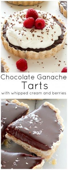 """With an all-butter crust and an incredibly decadent chocolate filling – these Chocolate Ganache Tarts are sure to grab your attention! If I see the words """"chocolate ganache"""" on any dessert menu, it's pretty much a sure thing that's what I'm having. I've been daydreaming about making a homemade chocolate ganache tart for ages, so …"""