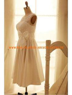 Rund-neck Kolumne schlicht Unique Brautkleider 2013 aus Satin mit Schärpe