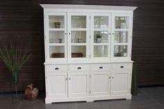 ASLI 210 | Witte traditionele vitrinekast in RAL 9010. Witte kasten en buffetkasten in alle stijlen bij meubelwinkel TEAK2