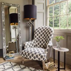 Possessing serious statement, the Alfred Black And White Ikat Print Armchair perfectly embodies eccentricity and style. Leather Recliner Chair, Wingback Chair, Leather Chairs, Vintage Dining Chairs, Used Chairs, Mirrored Furniture, Ikat Print, Chairs For Sale, Occasional Chairs
