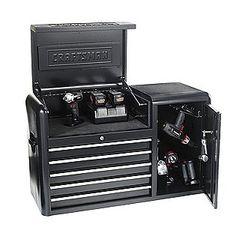 Tool Box Storage, Gun Storage, Garage Tools, Garage Workshop, Workbench Organization, Van Interior, Diy Shops, Car Shop, Welding Projects