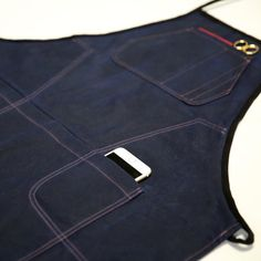 Navy Waxed Canvas Apron Artisan Apron Made in USA by WARPxWEFT