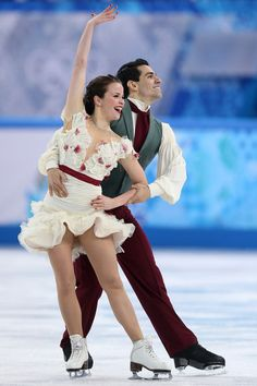 Anna Cappellini and Luca Lanotte of Italy  Ice Dance Free Dance on Day 10 of the Sochi 2014, Ice Dancing costume inspiration for Sk8 Gr8 Designs