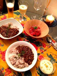 今日の献立です。 - 15件のもぐもぐ - 野菜カレーとトウモロコシのムースとトマトマリネ by noppinpin