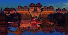 Fantasy Faire 2013 - Lotus Valley Dream Spirit World, Bonsai, Mystic, Lotus, Waterfall, Fantasy, Explore, Painting, Art