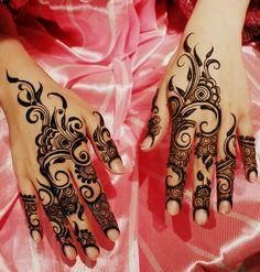 Arab henna design