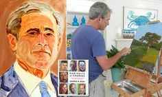 """{    GEORGE W. BUSH'S FIRST BOOK OF PAINTINGS WILL BE OF AMERICAN SERVICEMEN, ENTITLED 'PORTRAITS OF COURAGE' AND IS SET FOR RELEASE IN FEBRUARY   #DailyMailUK ..... """"The former president, who has dabbled in portraits of political leaders and puppies in his post-White House life, has put together a collection of artwork that will hit the shelves next year."""".... http://www.dailymail.co.uk/news/article-3789707/George-W-Bush-s-book-paintings-titled-Portraits-Courage-set-release-February.html"""