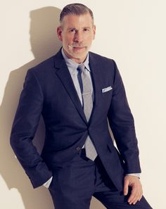 Mr. Wooster's One of Ten Must-Have Items: A Thom Browne Suit, playing it down with matching shirt and tie with complementing Spring colors. Article, via GQ.