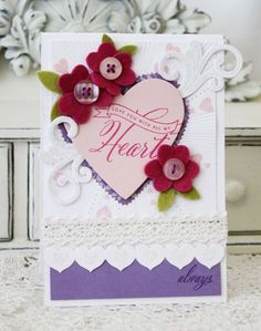 Love You Always Card by Melissa Phillips for Papertrey Ink (December 2012)