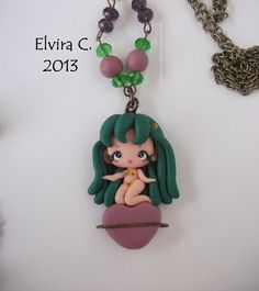 Urusei Yatsura polymer clay necklace by elvira-creations on DeviantArt