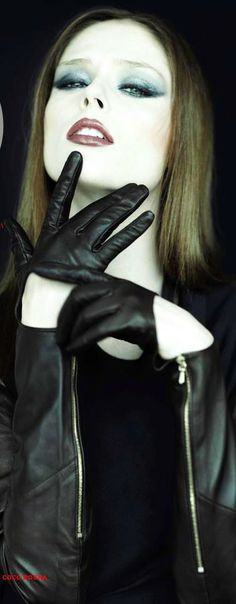~Black leather gloves | The House of Beccaria