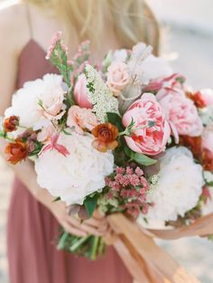 Colorful wedding bouquet: Photography: Tenth and Grace - http://www.tenthandgrace.com/