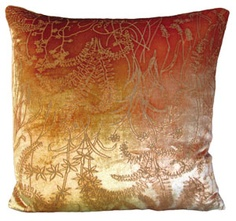 twigs velvet pillow by kevin o'brien