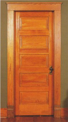 A typical 5 light Shaker style door used in Craftsman homes.