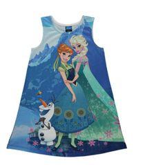 Disney Frozen Fever Anna Elsa  Olaf Summer Dress age 8/9 years