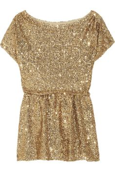 Alice + Olivia Barret sequined stretch-mesh top
