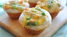 Turn classic chicken pot pie into individually portioned cupcakes. Just as delicious, but way cuter.