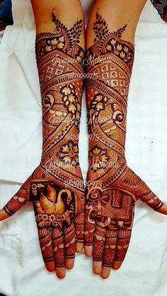 Unique Mehndi Designs, Wedding Mehndi Designs, Beautiful Henna Designs, Mehandi Henna, Hand Mehndi, Mehendi, Mehndi Design Pictures, Mehndi Images, Mehandhi Designs