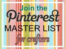A master list of crafters on Pinterest, this is cool, and there is no closing date!  You can join anytime.