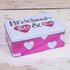 Bright Side Bridesmaids Bits And Bobs Tin