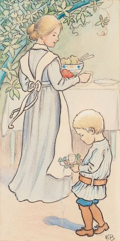 illustrations elsa beskow - Page 5 Elsa Beskow, Vintage Baby Pictures, Vintage Book Art, Children's Book Illustration, Book Illustrations, Artists For Kids, Fairytale Art, Childrens Books, Fairy Tales