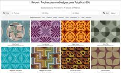 SEWING IN THE UK - Recently many of my seamless patterns are available in the UK at prinfab.com (https://prinfab.com/list?createdBy=sDahHH&attribution=Robert+Pucher) to be printed on various fabrics for clothing, quilting and decoration. Because of their moderate prices this shop might be also interesting for people living abroad. Have a look around!