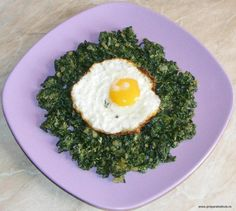 Spinach with egg - Spanac cu ou Jacque Pepin, Romanian Food, Stevia, Avocado Toast, Spinach, Eggs, Breakfast, Recipes, Easy Punch Recipes