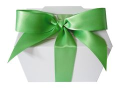 Lime green satin ribbon, gorgeous around favour boxes and cakes