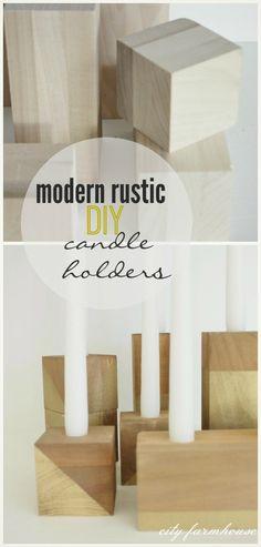 Modern Rustic DIY Candle Holders