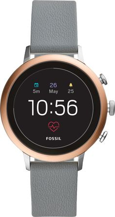 588f7a109b3a Fossil - Gen 4 Venture HR Smartwatch 40mm Stainless Steel - Rose Gold with  Gray Silicone Strap