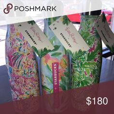 Selling this Lilly Pulitzer Starbucks S'well Water Bottles on Poshmark! My username is: gangstamami66. #shopmycloset #poshmark #fashion #shopping #style #forsale #Lilly Pulitzer #Other