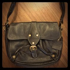 ISAAC MIZRAHI Purse Dark Brown ISAAC MIZRAHI Purse. In Great Condition. Flap, Back and Front Area is Genuine Leather and Other Areas is Man Made Materials. Isaac Mizrahi Bags Shoulder Bags