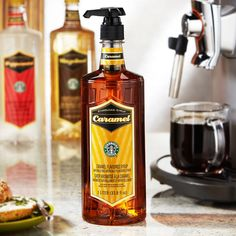 A 1-liter bottle of smooth, sweet caramel syrup to flavor your coffee or macchiato at home or the office.