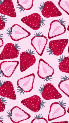Discovered by Aline Tavares. Find images and videos about pink, background and strawberry on We Heart It - the app to get lost in what you love. Summer Wallpaper, Wallpaper For Your Phone, Wallpaper Iphone Cute, Screen Wallpaper, Cool Wallpaper, Mobile Wallpaper, Cute Wallpapers, Pattern Wallpaper Iphone, Iphone Wallpapers