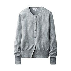 WOMEN Ines Cotton Cashmere Crew Neck Cardigan Uniqlo. Fressange 2015