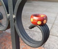 Chansthinks Dot pattern Wooden Ring #Chansthinks