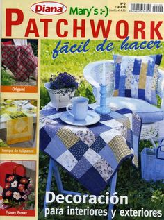 Fabric and Sewing - Many big and small patchwork projects. Picnic Blanket, Outdoor Blanket, Origami, Sewing Magazines, Cross Stitch Magazines, Book Quilt, General Crafts, Book Crafts, Craft Books