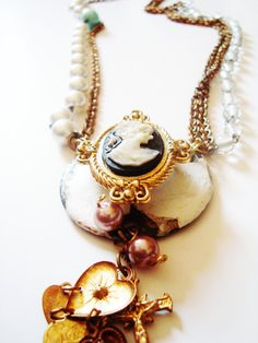 Vintage Recycled Necklace Just As I Am by Creative Revival